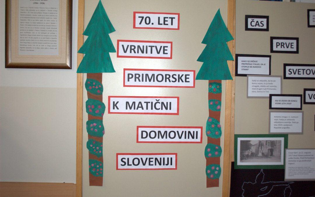 Priključitev Primorske k matični domovini
